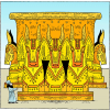 Solomons Altar of that rested upon 12 Oxen | 2 Chronicles Clip Art
