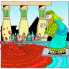 Moses Smote the Waters and they turned Blood | Exodus Clip Art