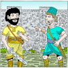 Art thou for us or for our adversaries | Joshua Clip Art
