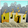 The House of Jacob Shall be a Fire | Obadiah Clip Art