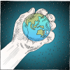 World In Hand | Psalm Clip Art