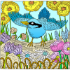 Blue Bird | Psalms Clip Art