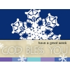God Bless You | PowerPoint Themes - Snowflakes