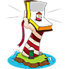 This is a symbolic image of arm holding up a Bible. The arm and Bible are pictured as a lighthouse. Clearly the picture is telling us that we are a lighthouse to the world when we hold up God's Word.