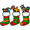 Christmas stockings full of toys