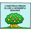 A righteous person is like a wonderful resource