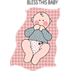 Baby on red checkered blanket
