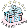 "An image of a gift with the words below, ""It's a Baby Shower!"" Babies are a gift from God."
