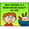 Self-control is a highly valued quality by God