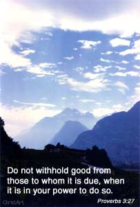 Don't withhold good